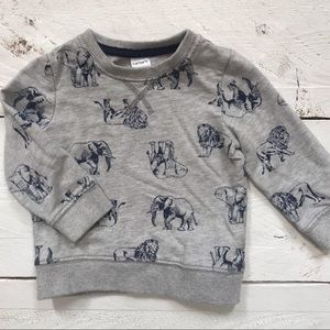 Gender Neutral Safari Animal Sweatshirt